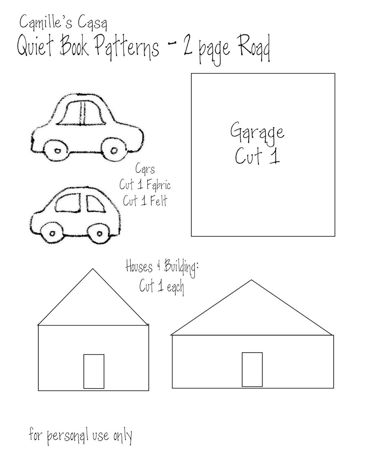 Camille's Casa: Quiet Book- Car & Road Page