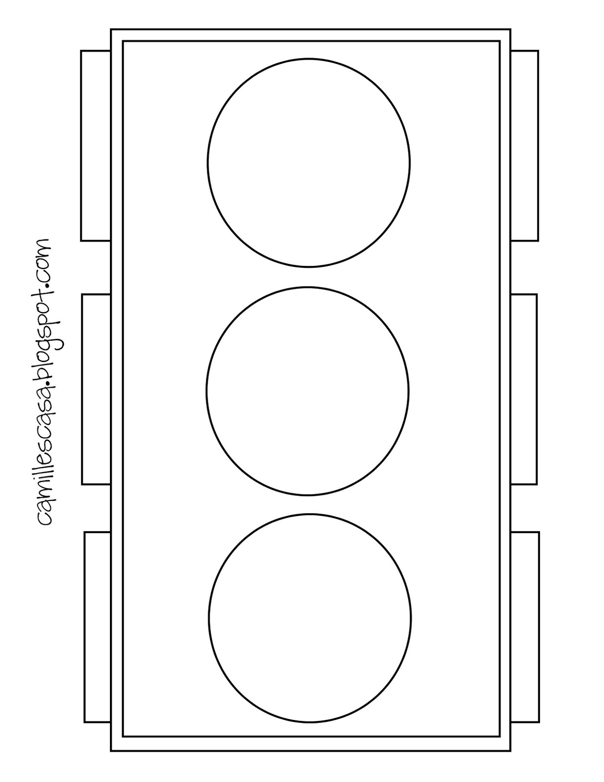 traffic light coloring page - camille 39 s casa holy ghost baptism talk