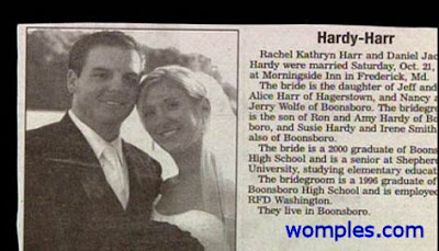 funny marriage names news photo hardy harr couple