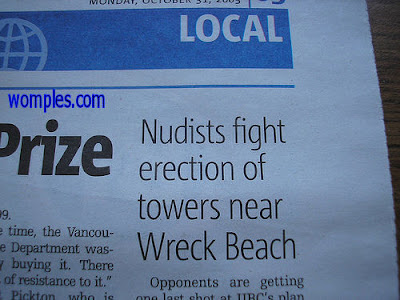 funny headlines nudist tower to be erected bad choice of words
