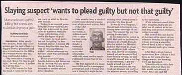 funny stupid news headline about slaying suspect who wants to plead guilty but not that guilty