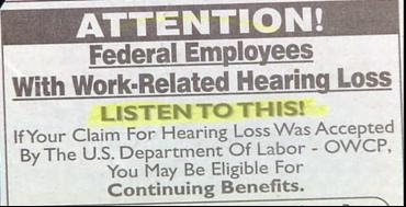 funy news ads about hearing loss listen to this is the slogan weird and crazy
