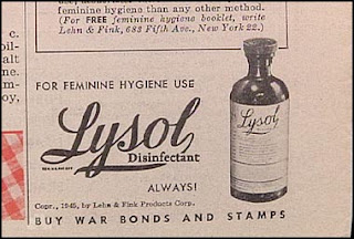 funny old ads vintage lysol disinfectant feminine hygiene and war bonds stamps
