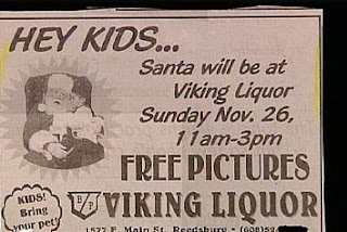 really stupid newspaper ads santa at liquor store for kids pictures available viking store
