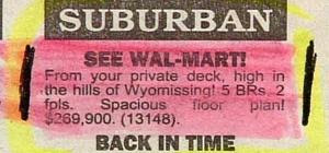 funny real estate ad for house in wyomissing pennsylvania thats has great views of wal mart very odd picture