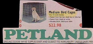 funny pet news ads from petland medium bird cages for sale suitable for a dog