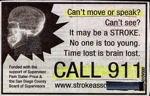 funny weird ads cant move may be stroke call 911