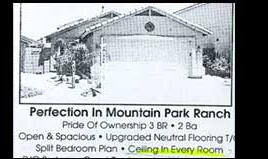 funny real estate ad offering ceiling in every room of mountain house