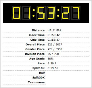 My race summary