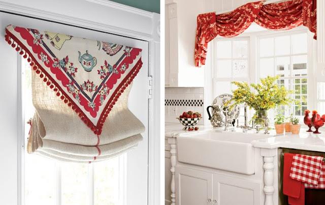 Giocare con le tende shabby chic interiors - Cosa mettere al posto delle piastrelle in cucina ...