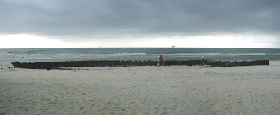 Shipwreck at Fort Morgan in Gulf Shores