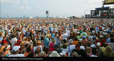 Jimmy Buffett concert · photo courtesy of Mobile Press-Register