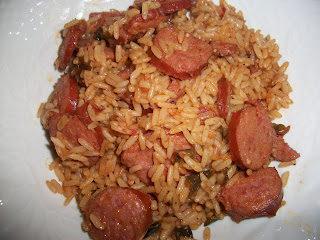 Oven baked andouille sausage jambalaya sandys kitchen oven baked andouille sausage jambalaya forumfinder Choice Image