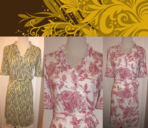 Ruffles Wrap Dresses