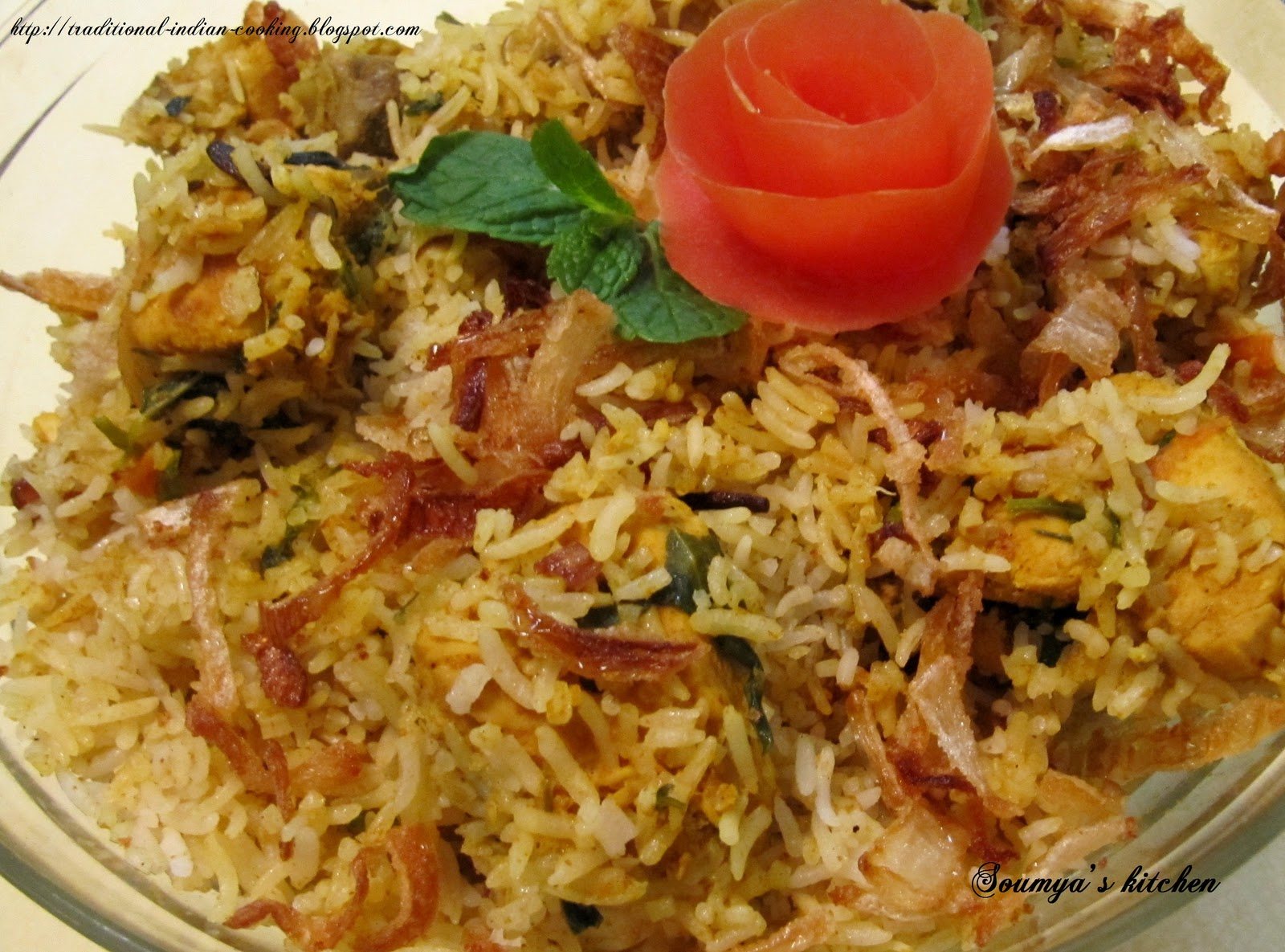 Soumya's kitchen: CHICKEN BIRYANI