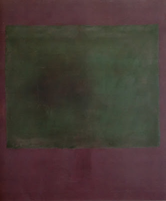 Verde sobre morado. Rothko, 1961.