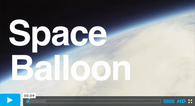 Video from a weather balloon that rose into the upper stratosphere and recorded the blackness of space
