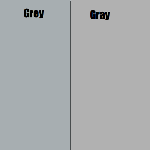 Radiojestica grey vs gray for Color gray or grey