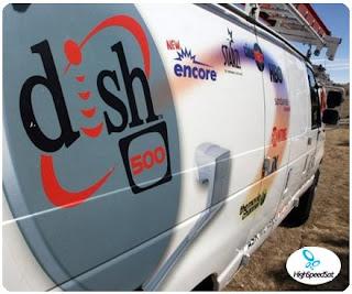 dish networks installer van