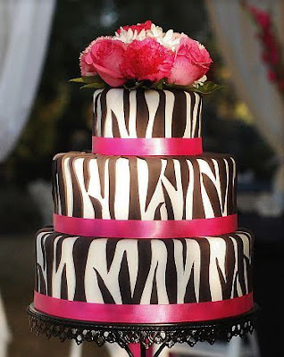 wedding cake shaped zebra