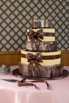 Chocolate Wedding Cakes photo