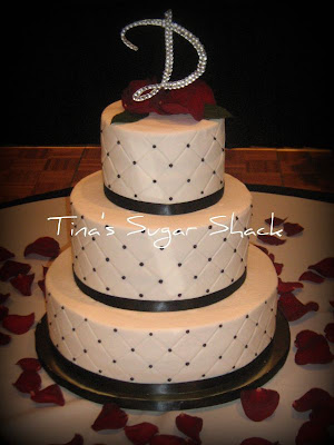 blacknwhite wedding cakes dots