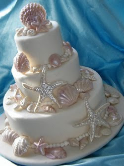 seashells Wedding Cakes Decorated