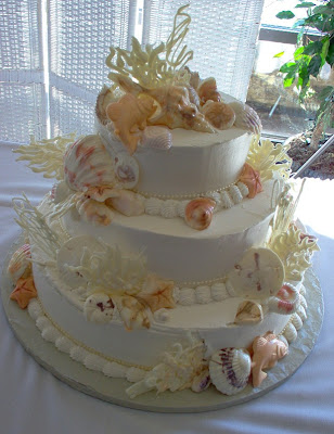 shell wedding cake picture