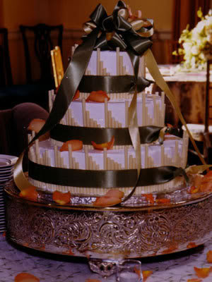 wedding cake coated