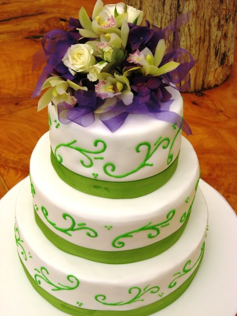 Wedding Cakes Green Square Round Food And Drink
