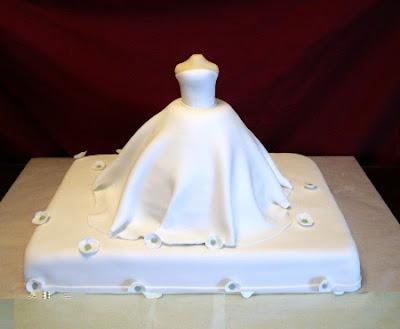 white wedding cake shaped dress pict