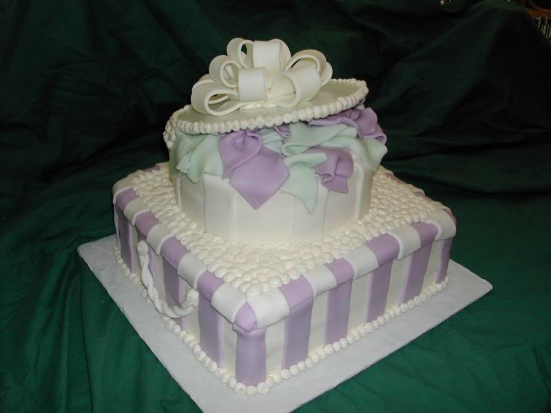 Bridal shower wedding cakes food and drink for Cakes for wedding showers