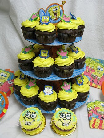 lilys Cakes And Breads Spongebob Cupcake Cakes For Kids