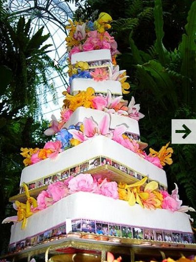 Decoration homemade wedding cake with white alloys and decorations of