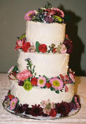 Homemade Wedding Cake pictures