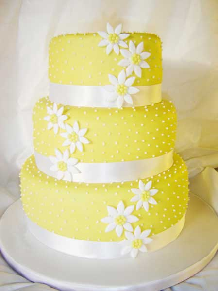 Yellow Wedding Cakes Cake Picture