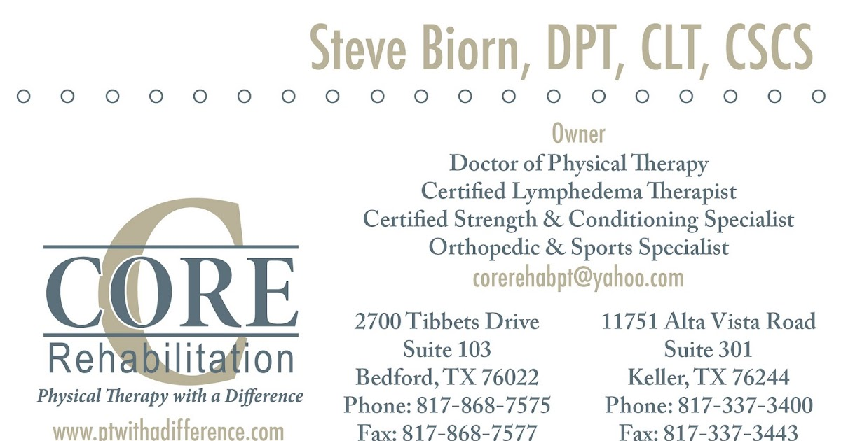 the design loft: Core Rehab Business Card & Appointment Reminder