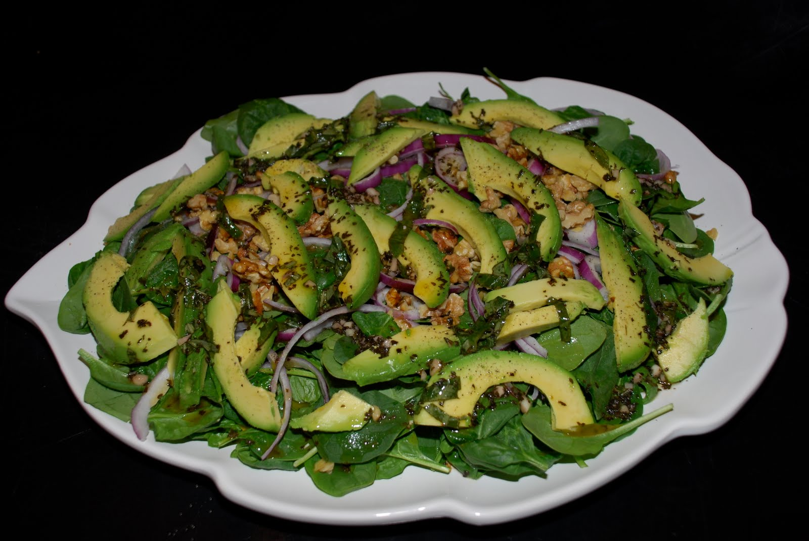 Spinach And Avocado Salad Recipe — Dishmaps