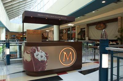 Quiosque sorvete Magnum