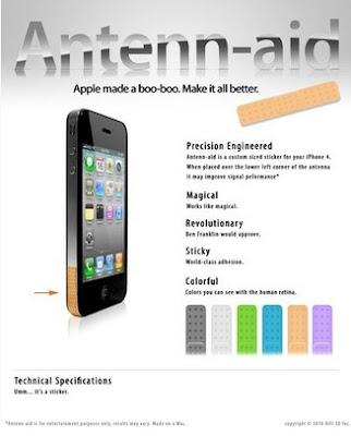 iPhone 4 com um band-aid especial