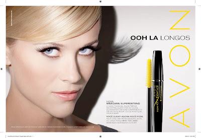 Reese Witherspoon em nova campanha da Avon