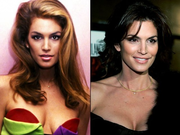 Top supermodels - Then and now