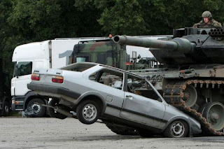 What will happen if a tank will pass on your car