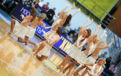 Basketball cheerleaders