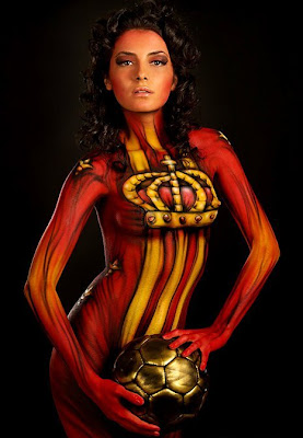 women body painting