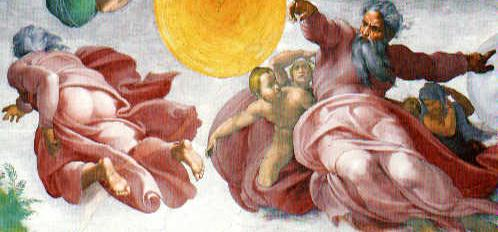 Gods arse is actually in the Cistine Chapel