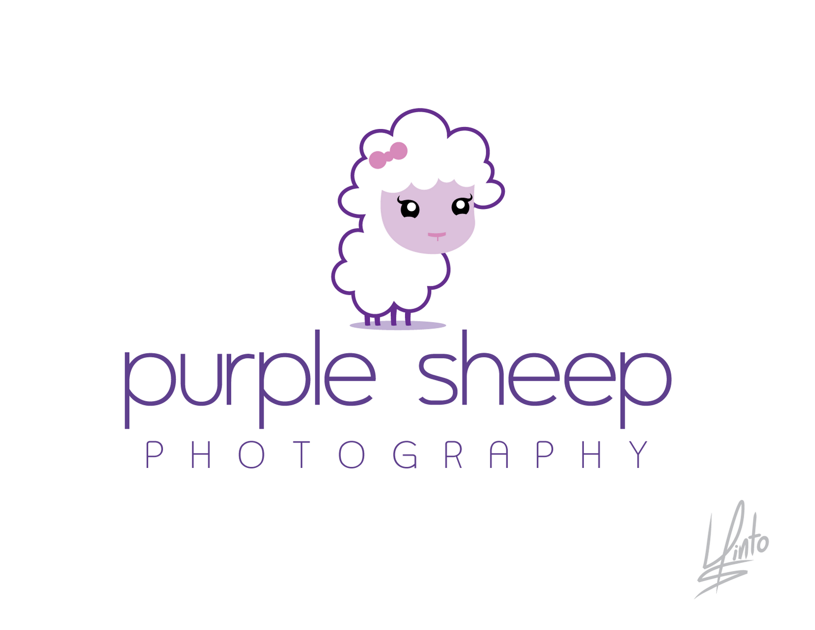 Character Design Logo : Luis pinto arte y diseño purple sheep photography logo