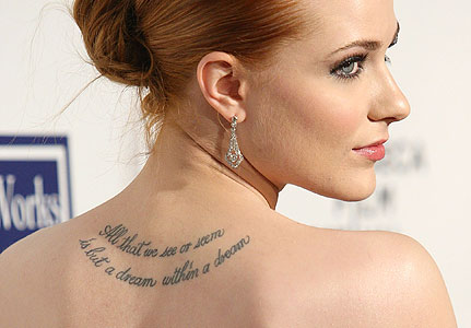 Evan rachel wood tattoo designs. Email. Written by TattoosReviews on