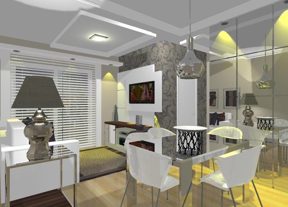 Maedra design de interiores sala de um apartamento pequeno for Diseno de interiores apartamentos pequenos