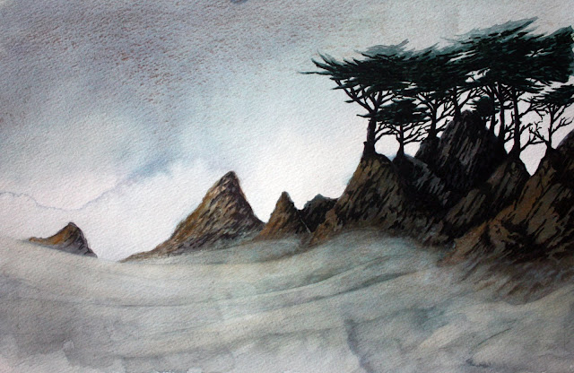 Coastal Cypress #1  ($125 Original; $50 prints)